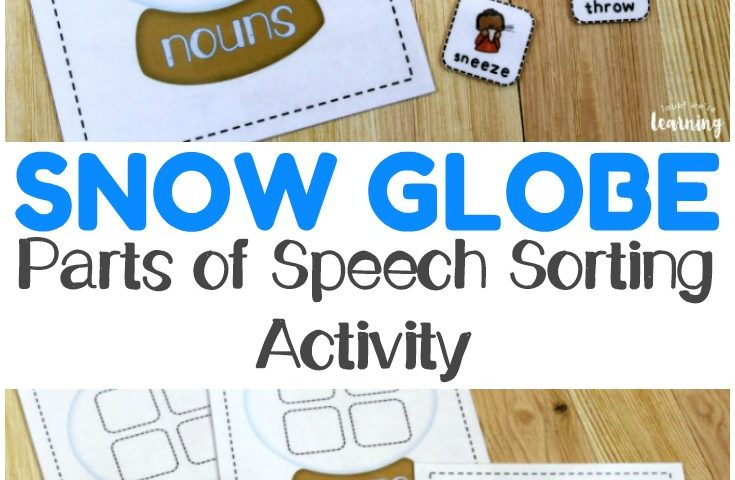 Snow Globe Grammar: Parts of Speech Sorting Activity