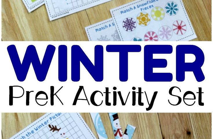 Printable Winter Preschool Activity Set