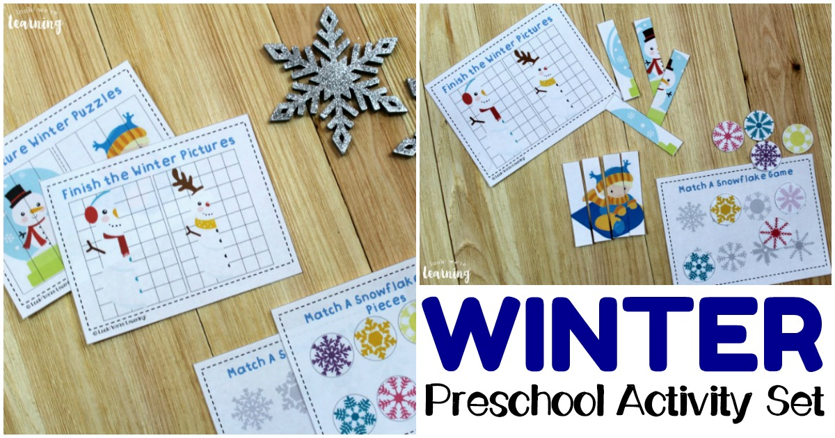 Printable Winter PreK Activity Set for Kids