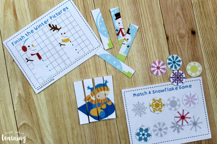 Winter Preschool Printable Activity Set