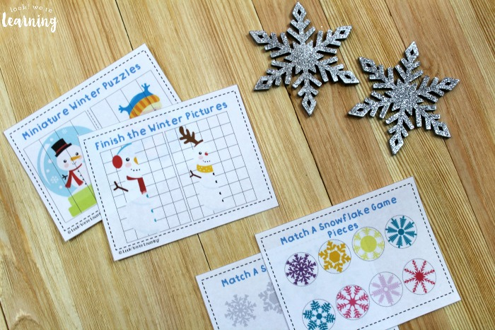Winter Preschool Printable Set