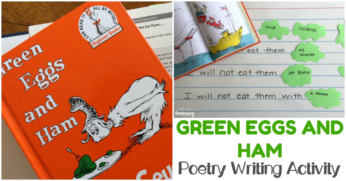 Easy and Fun Green Eggs and Ham Poetry Activity for Kids