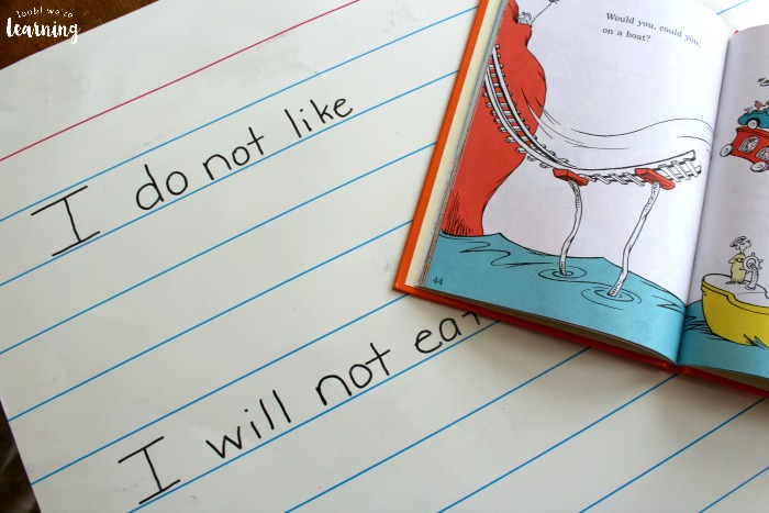 Green Eggs and Ham Poetry Activity for Early Grades