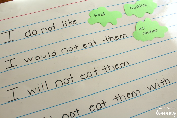 Hands On Green Eggs and Ham Poetry Activity