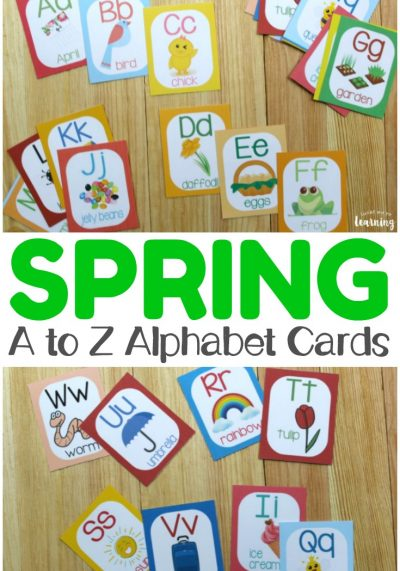 Help early learners recognize letters of the alphabet with these printable spring alphabet flashcards! So fun for spring learning!