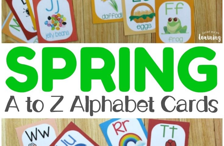 Spring A to Z Alphabet Flashcards