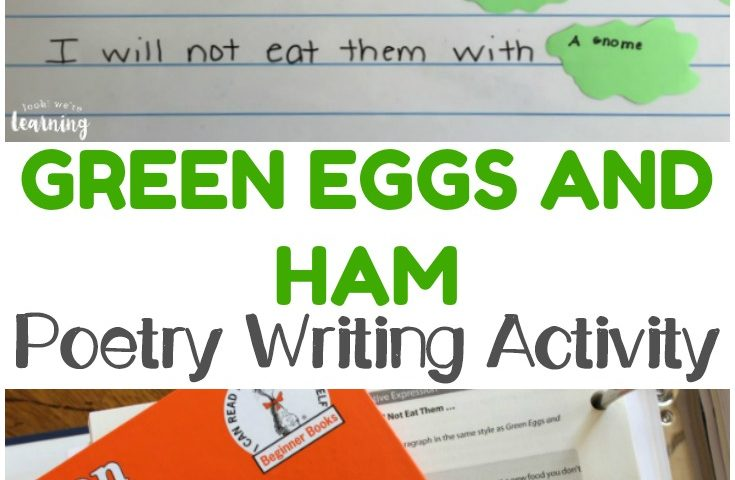 Simple Green Eggs and Ham Inspired Poetry Activity
