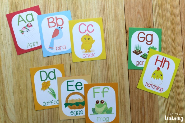 Printable Spring Alphabet Cards