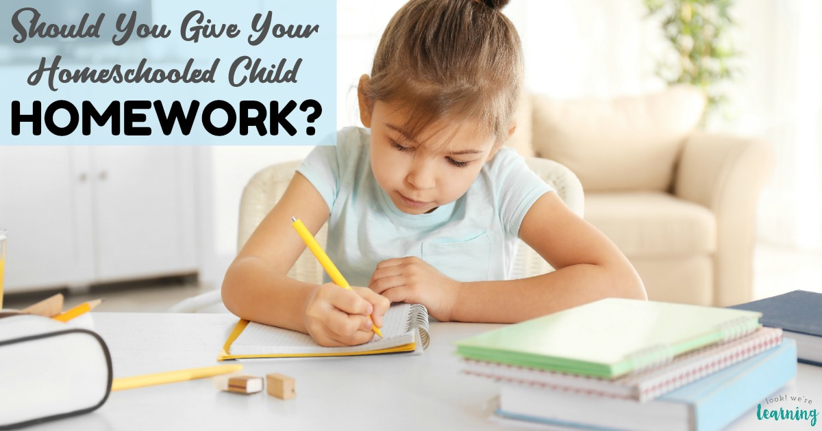 Should You Give Your Child Homeschool Homework