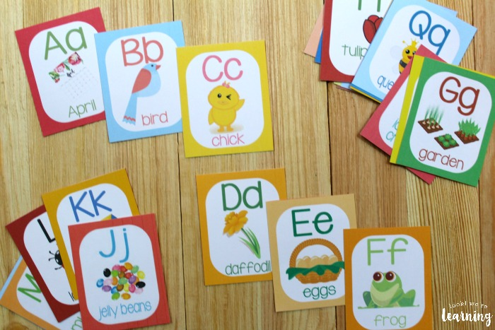 Spring Alphabet A to Z Cards