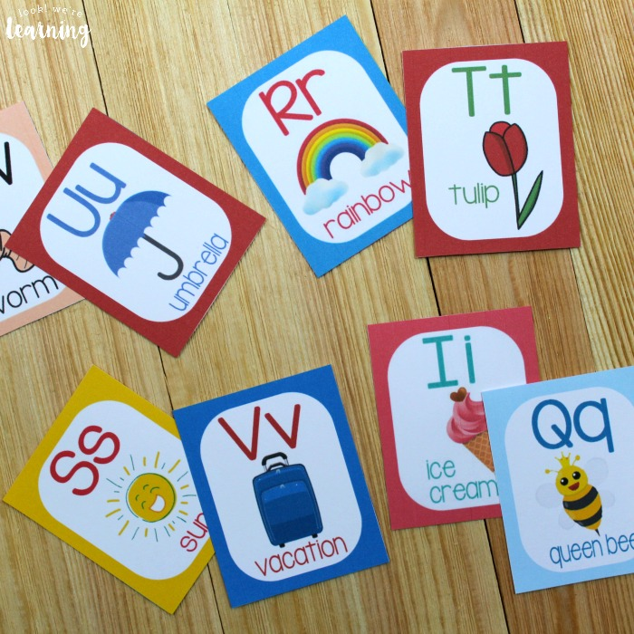 Spring Alphabet Flashcards