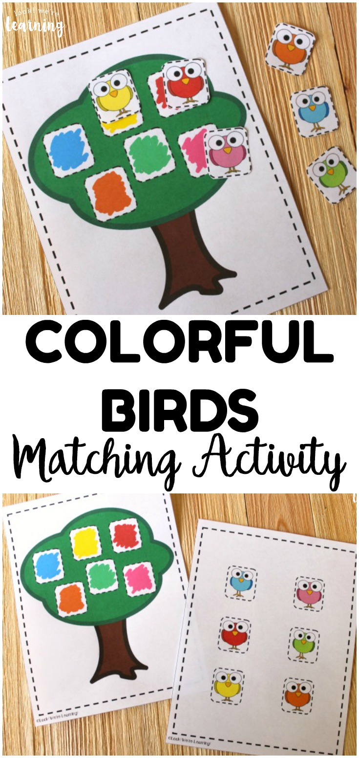 Learn to match colors with your little ones with this fun and easy bird color matching activity for preschoolers!