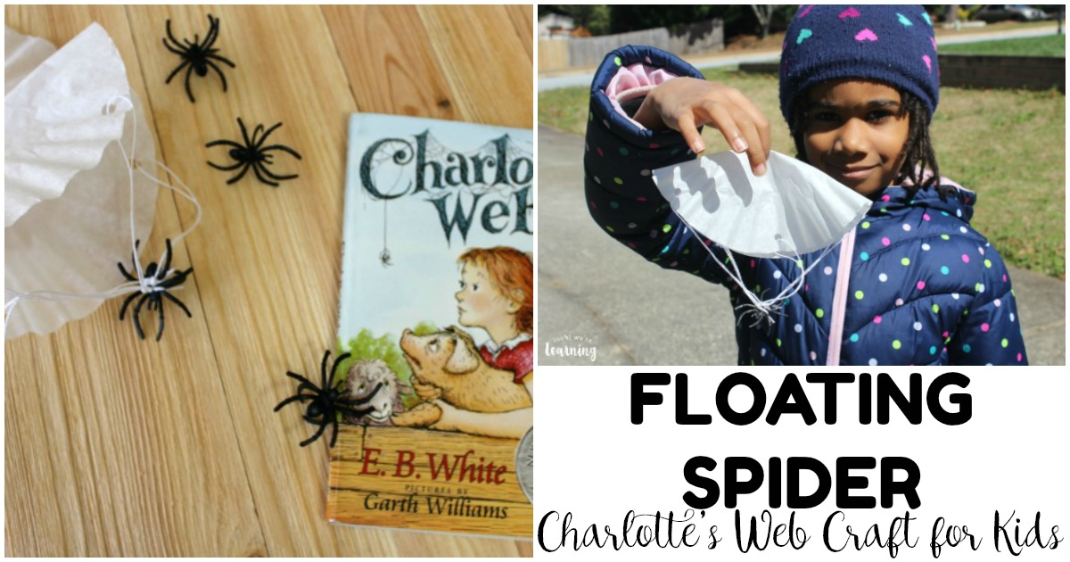 Make this easy Charlotte's Web craft when you finish the story with your little ones!
