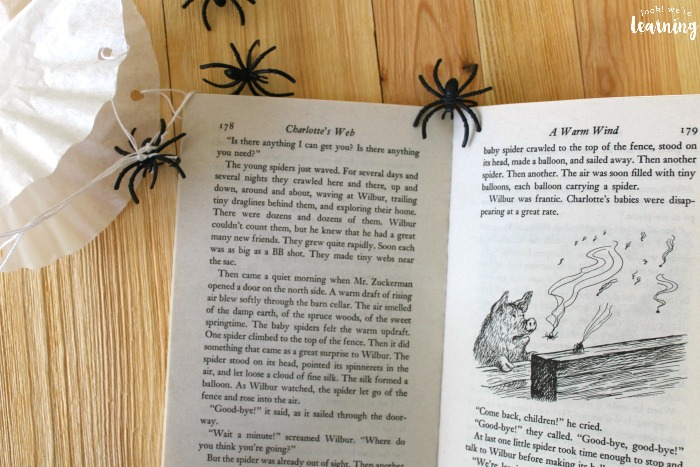 Making a Charlotte's Web Craft with Kids
