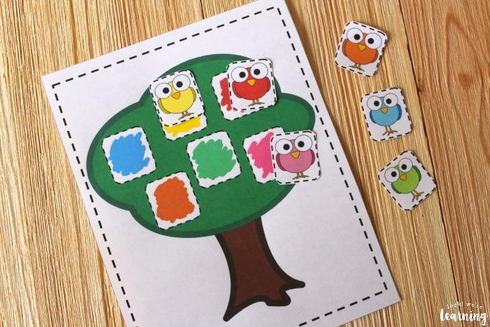 Preschool Bird Color Matching Activity for Kids