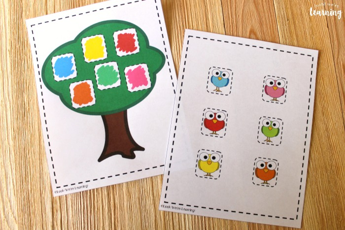Printable Bird Color Matching Activity