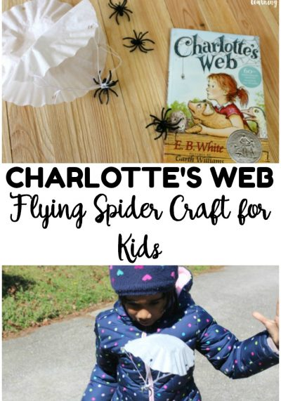 Reading Charlotte's Web with your kids? Bring the story to life with this fun Charlotte's Web craft little ones can make!