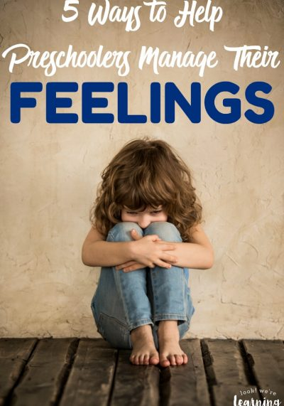 Struggling to help your little one calm down? Try these five tips for helping preschoolers manage their emotions!