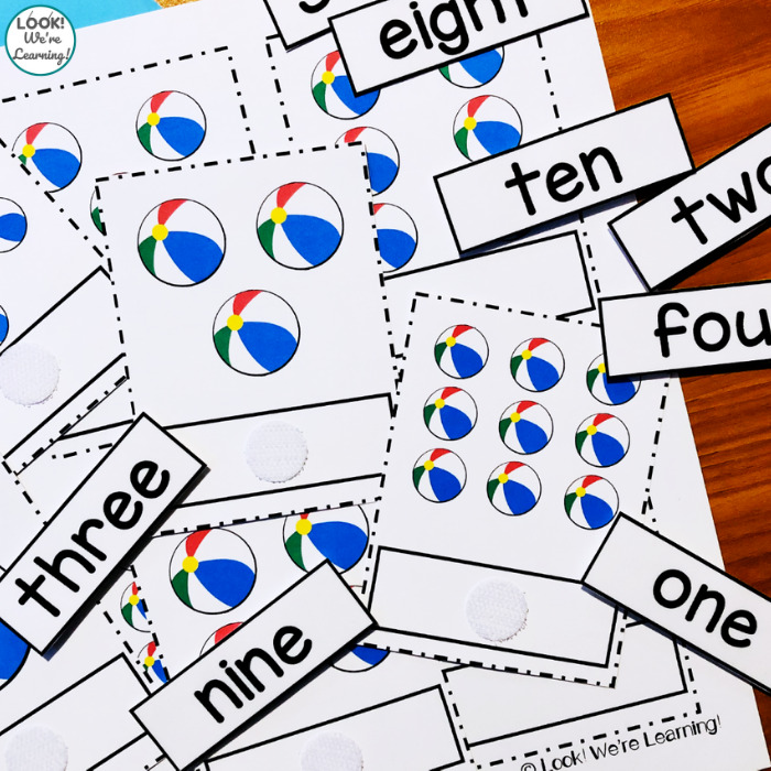Beach Theme Counting Cards