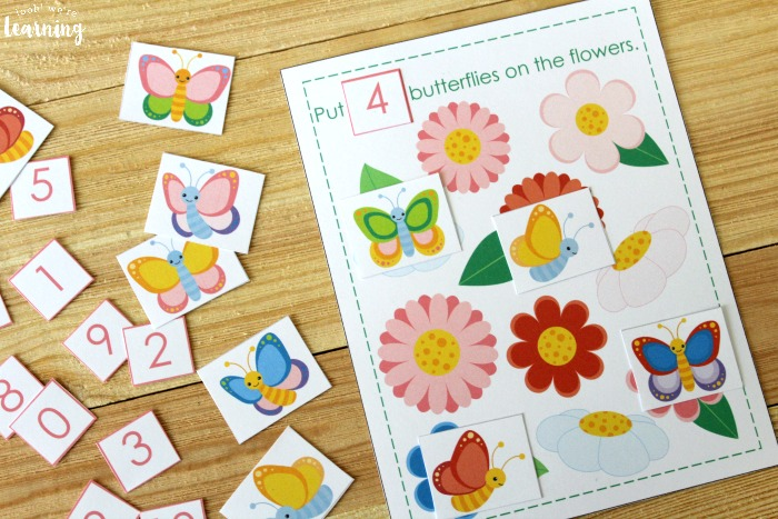 Butterfly 0-10 Counting Activity for Kids