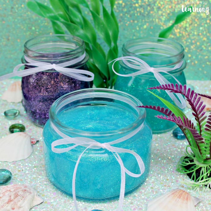 DIY Glitter Mermaid Slime for Kids