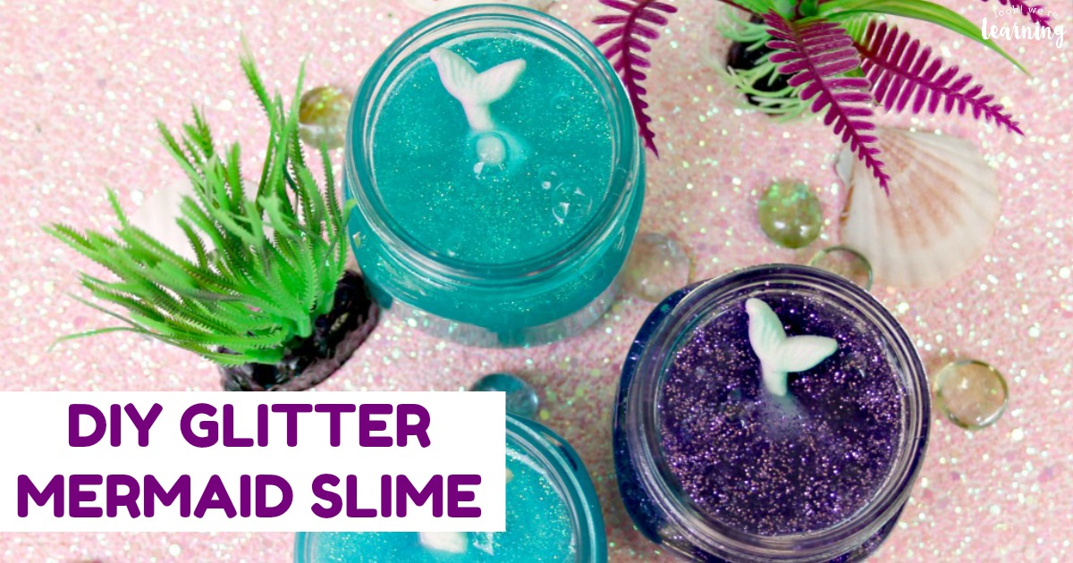 Easy DIY Glitter Mermaid Slime Recipe for Kids