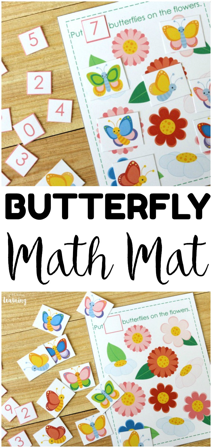 Help your little learners practice counting to ten with this lovely butterfly counting activity! Great for introducing addition and subtraction too!