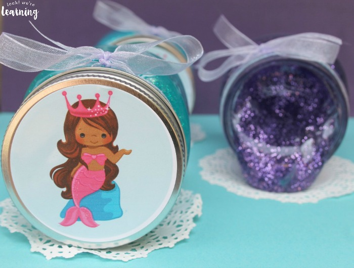How to Make Glitter Mermaid Slime Party Favors