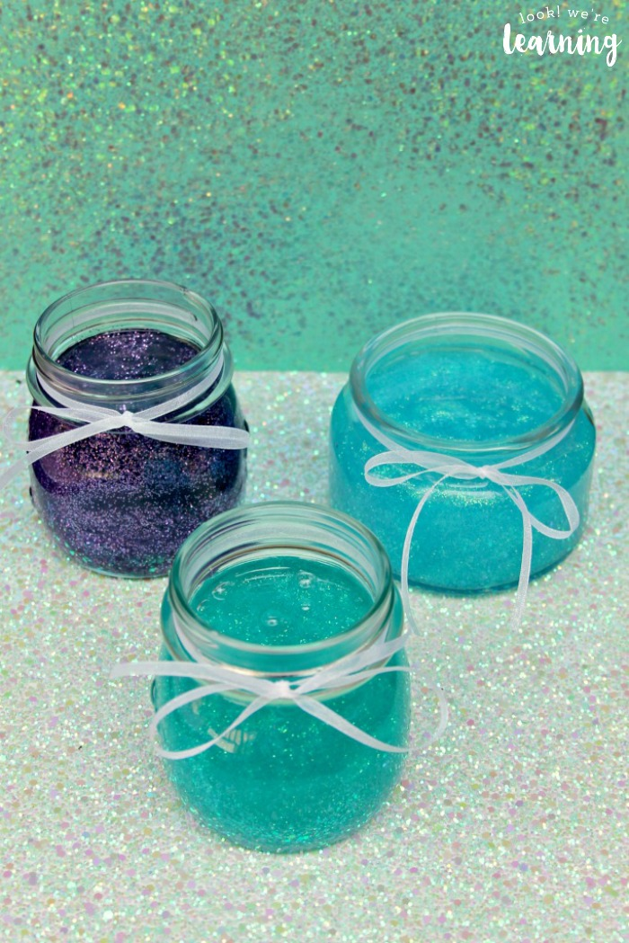 Making DIY Glitter Mermaid Slime