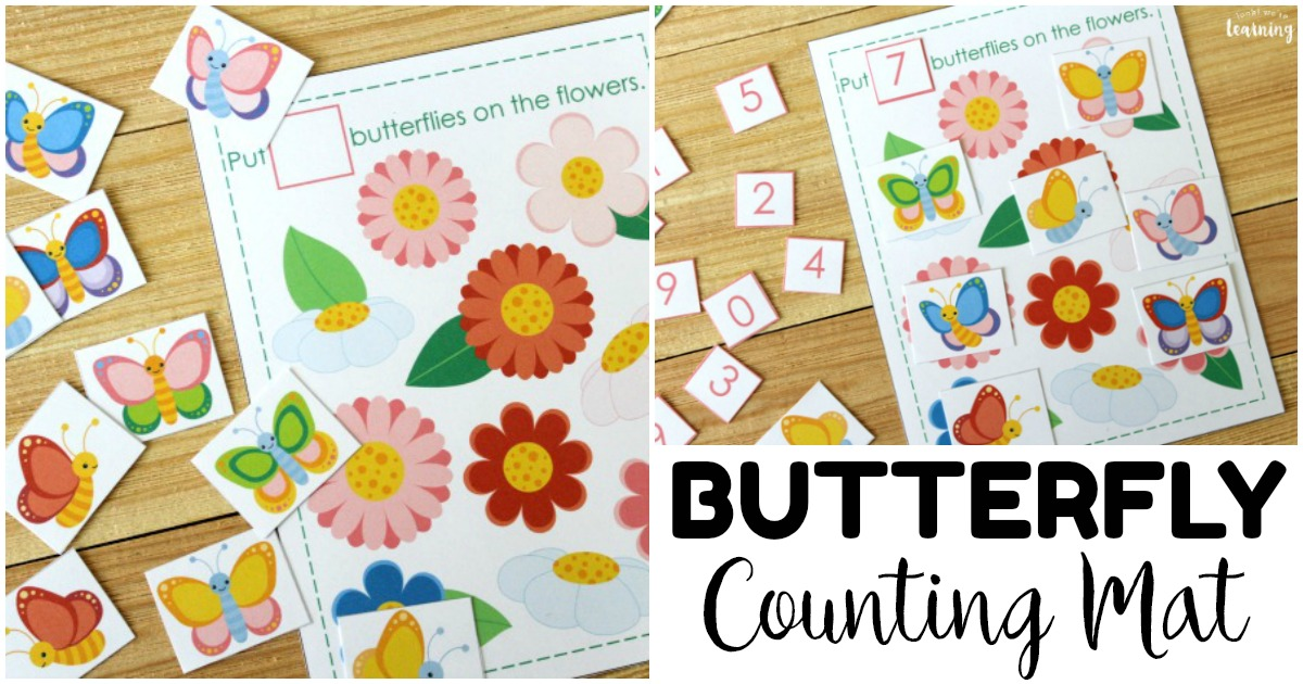 Printable 0-10 Butterfly Counting Activity for Preschoolers