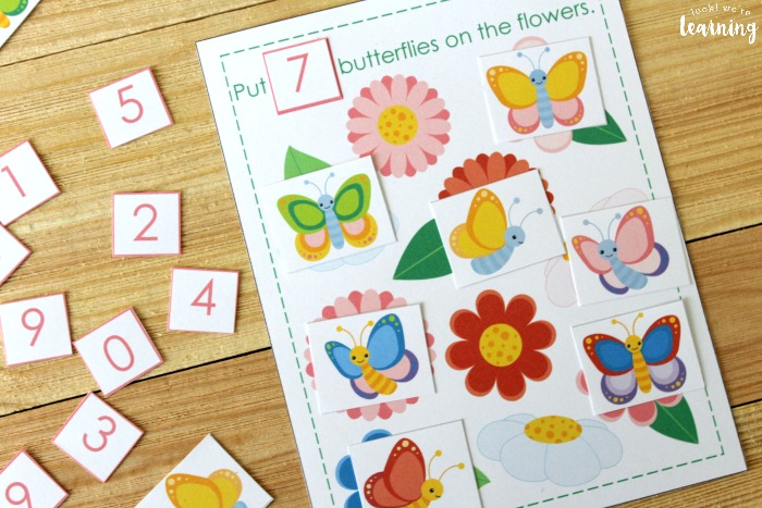 Printable Butterfly 0-10 Counting Activity