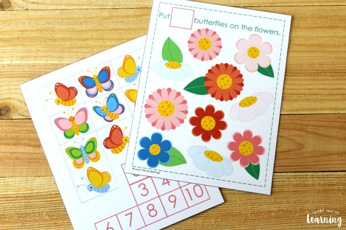 Printable Butterfly Counting Activity