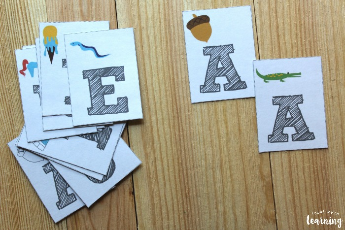 Printable Vowel Cards for Kids