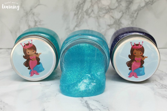 Simple Mermaid Slime Party Favors for Kids