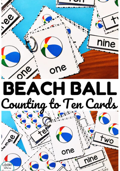 These printable beach ball counting cards are so much fun for practicing counting over summer!