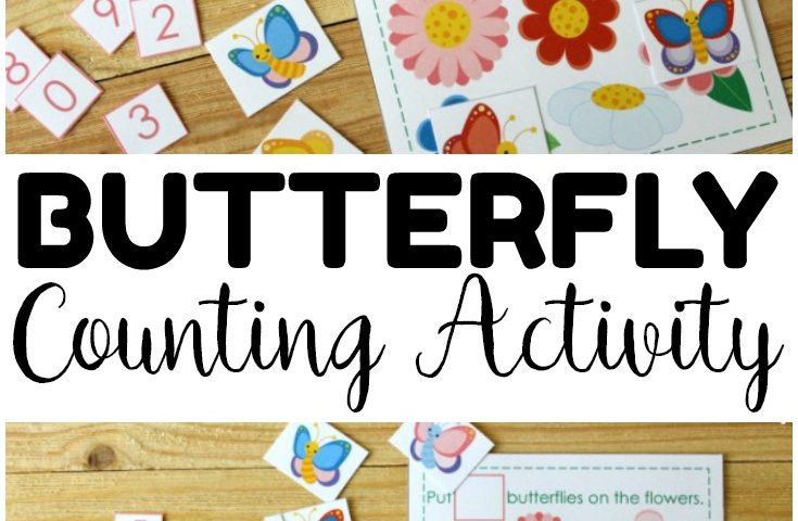 Printable Butterfly Counting Activity for Kids