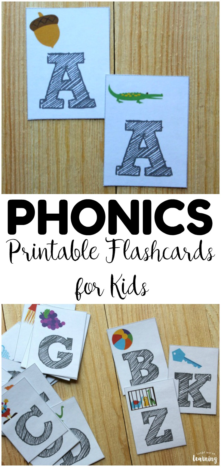 Working on early reading skills with your preschooler? Try these printable phonics flashcards for some quick letter learning fun!