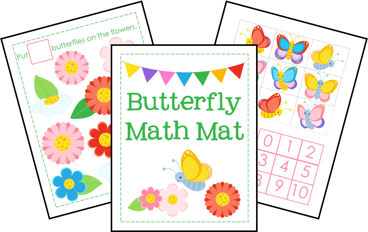 Butterfly Math Mat for Kids