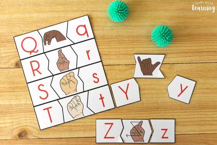 ASL Alphabet Matching Puzzles for Kids