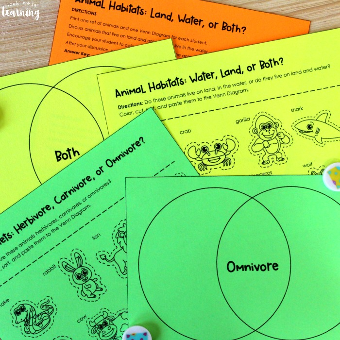 Animal Diets and Habitats Sorting Activity