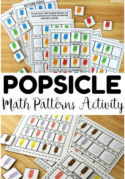 Easy Ice Pop Math Patterns Activity for Kids