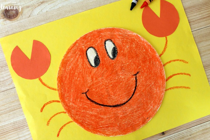 Easy Coffee Filter Crab Craft for Kids