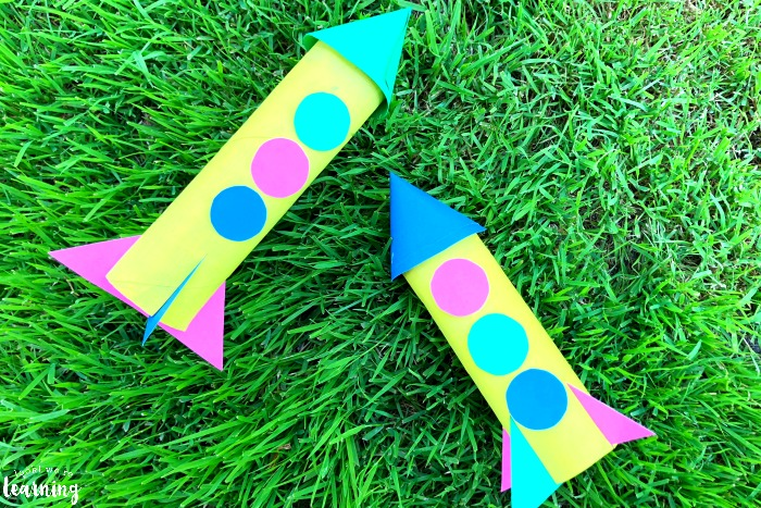 Easy Paper Rocket Craft for Kids