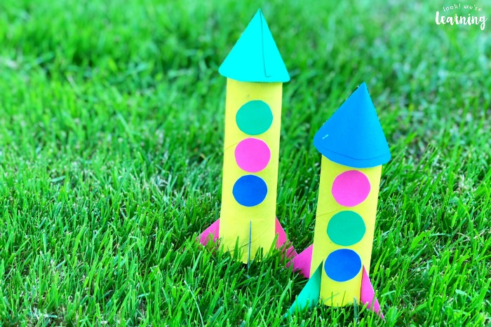 Easy Paper Rocket Craft