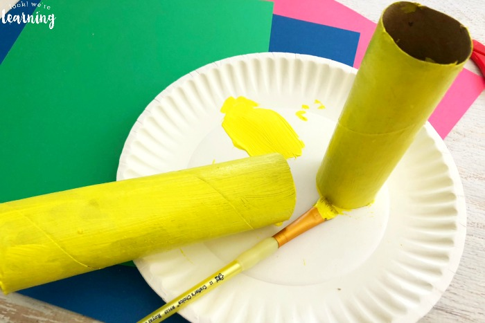 Fun Paper Roll Rocket Craft