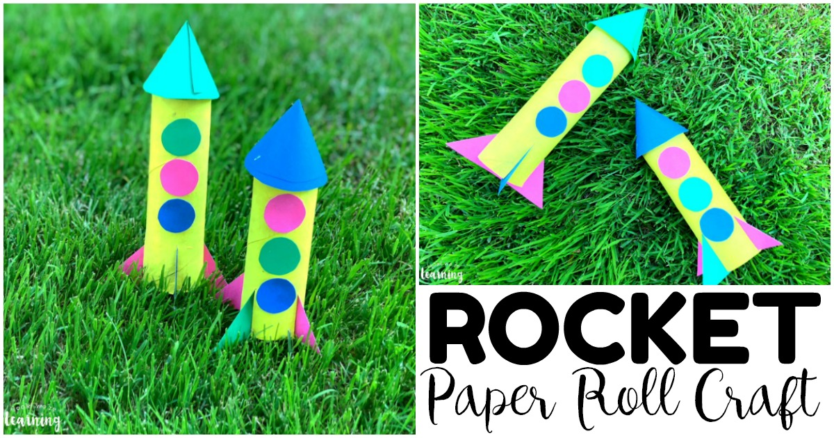 Fun and Easy Paper Roll Rocket Craft for Kids to Make