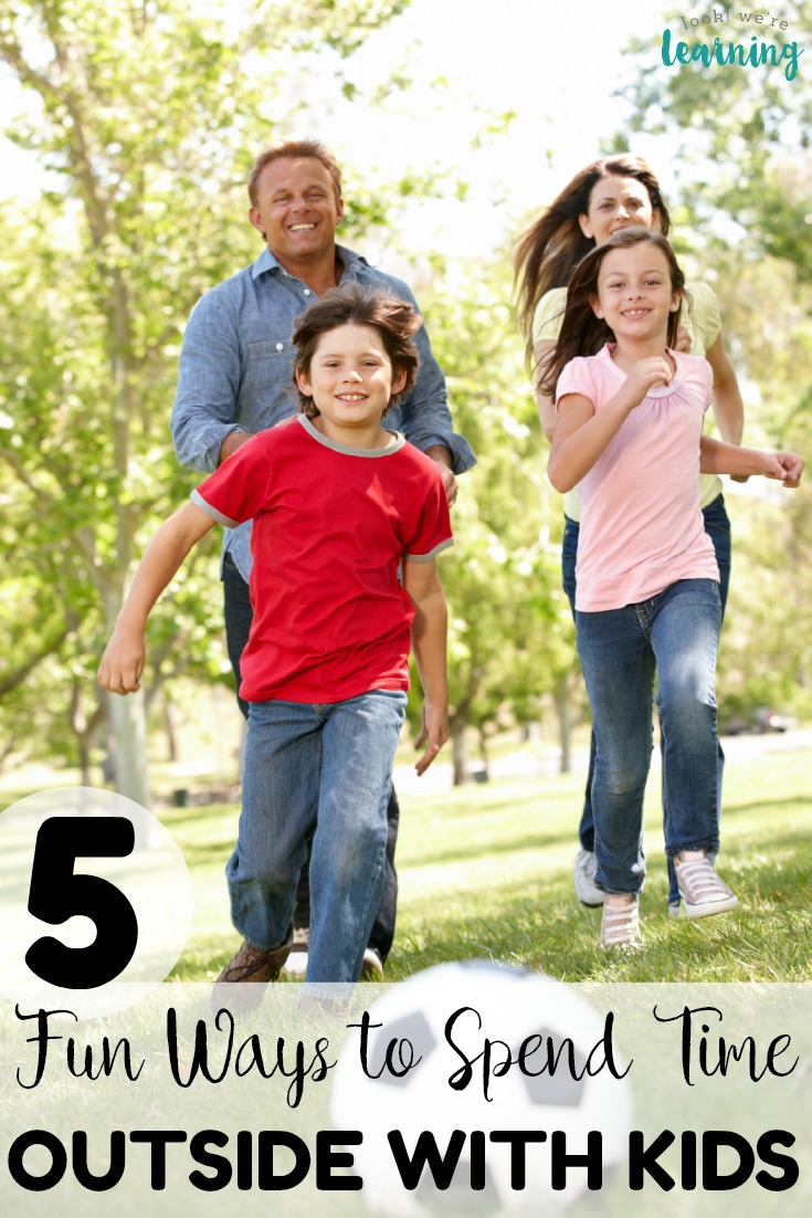 Head outdoors with your family this year with these fun ways to spend time outdoors with kids! Perfect for summer barbecues, camping trips, and family days out!