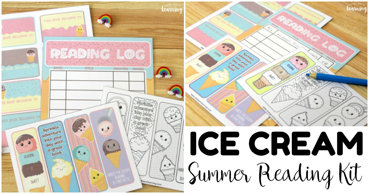 Ice Cream Printable Reading Log and Summer Reading Kit for Kids