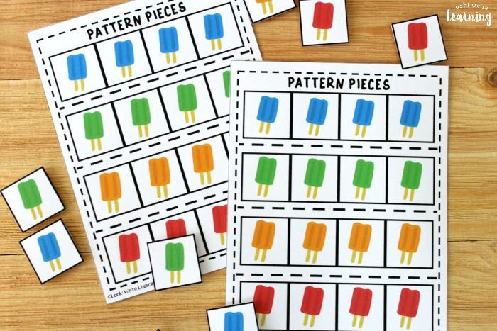 Ice Pop Math Patterns Activity - Look! We're Learning!