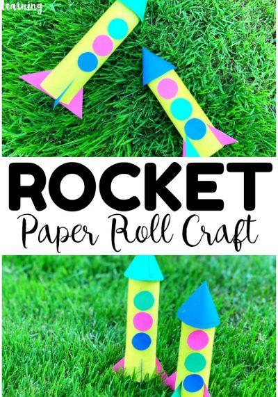 Easy Paper Roll Rocket Craft for Kids